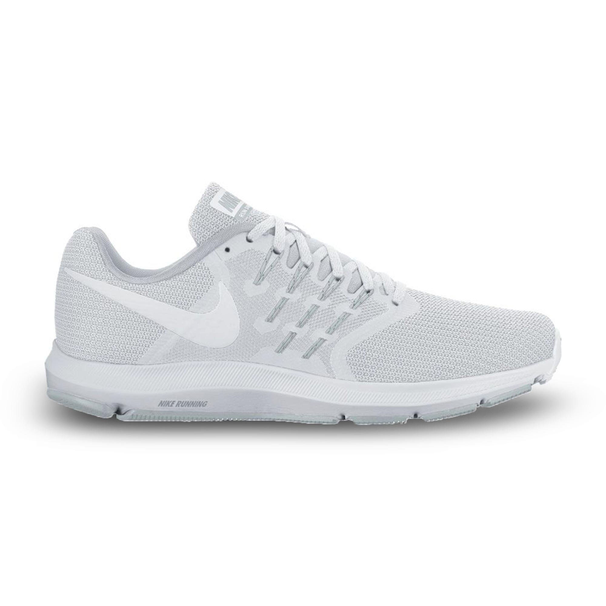 NIKE Womens Run Swift Low Top Lace Up, White/White-Pure Platinum, Size 7.5