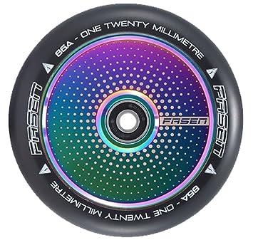 Fasen 120 mm rueda para patinete Hypno - Dot aceite Slick (Neochrome): Amazon.es: Deportes y aire libre