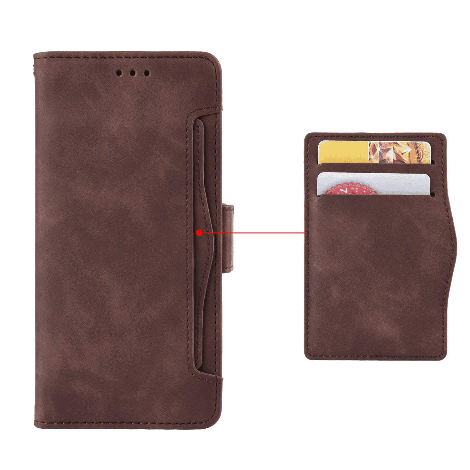 Huawei P20 Lite Flip Case Cover for Huawei P20 Lite Leather Kickstand Cell Phone Cover Extra-Durable Business Card Holders with Free Waterproof-Bag Elegant