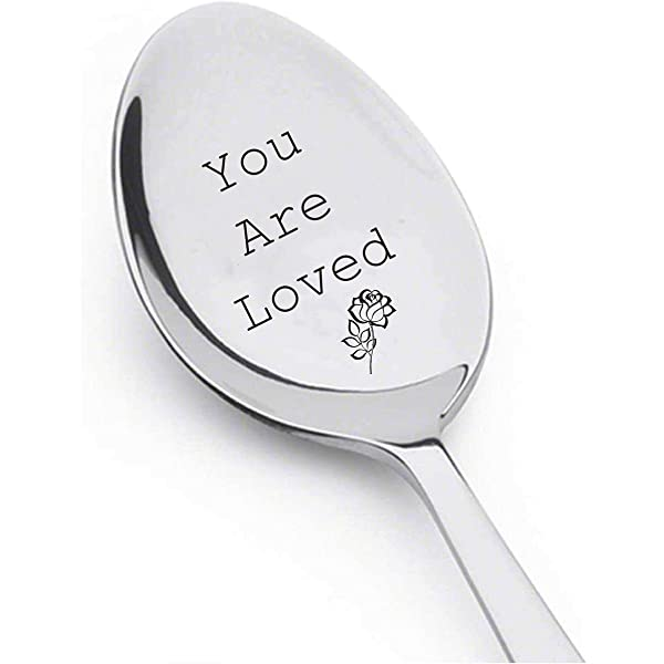Gift Idea for Coffee You Are Loved Spoon I love you Teaspoon The ORIGINAL Hand Stamped Vintage Coffee Spoons\u2122 Present for Tea Lover