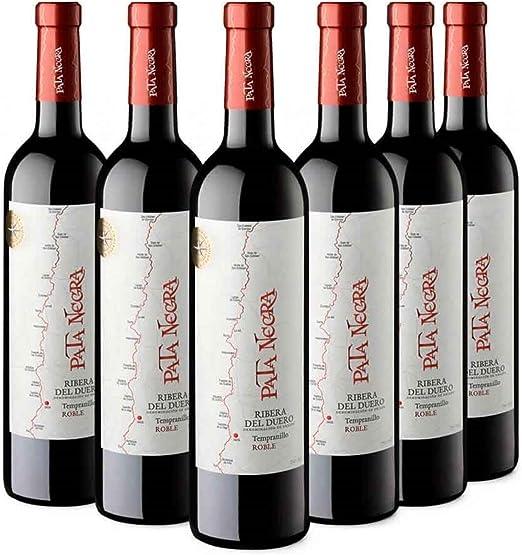 Pata Negra Roble Vino Tinto D.O Ribera del Duero - Pack de 6 Botellas x 750 ml: Amazon.es: Alimentación y bebidas