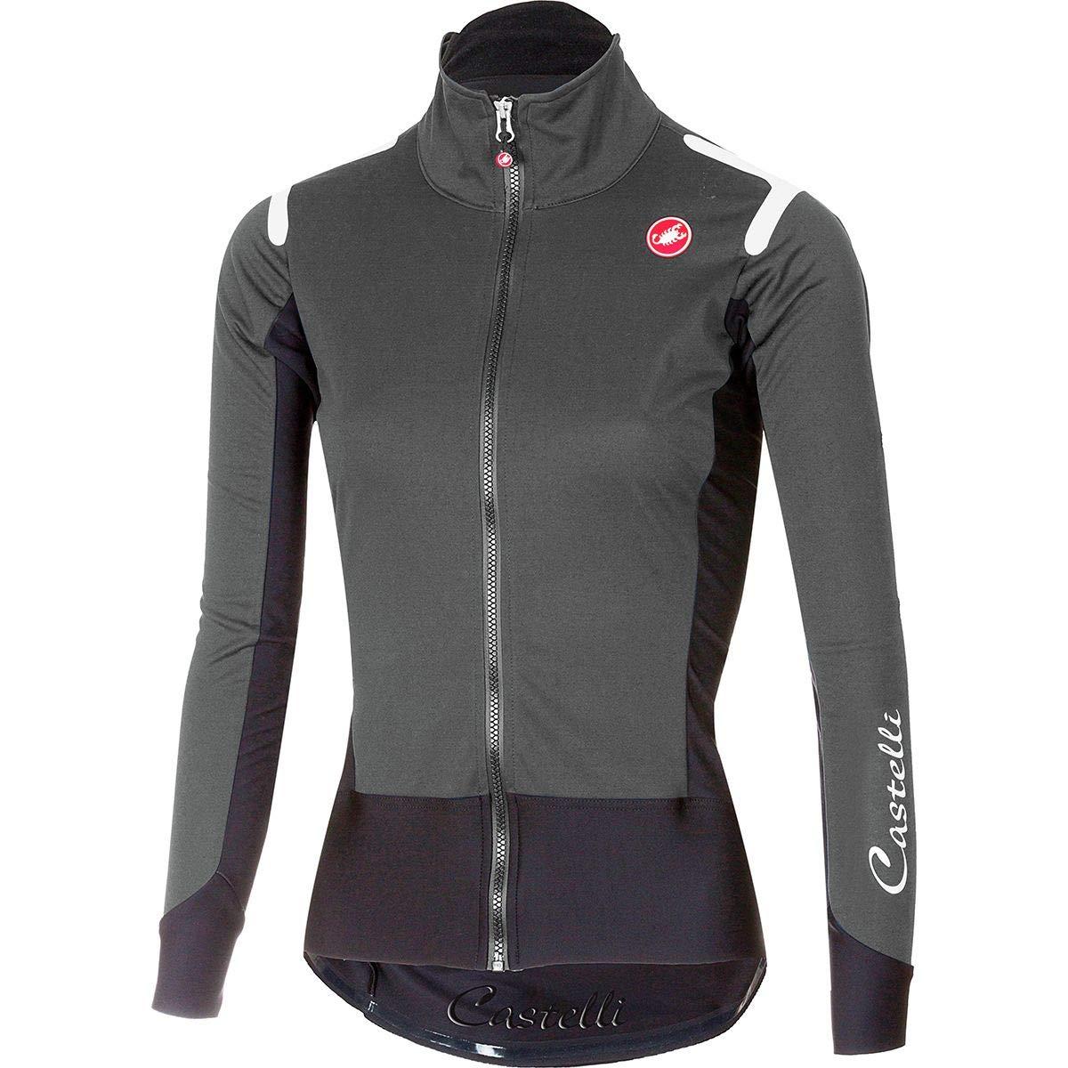Castelli Alpha ROS Long-Sleeve Jersey - Women's Dark Gray/Black, XS
