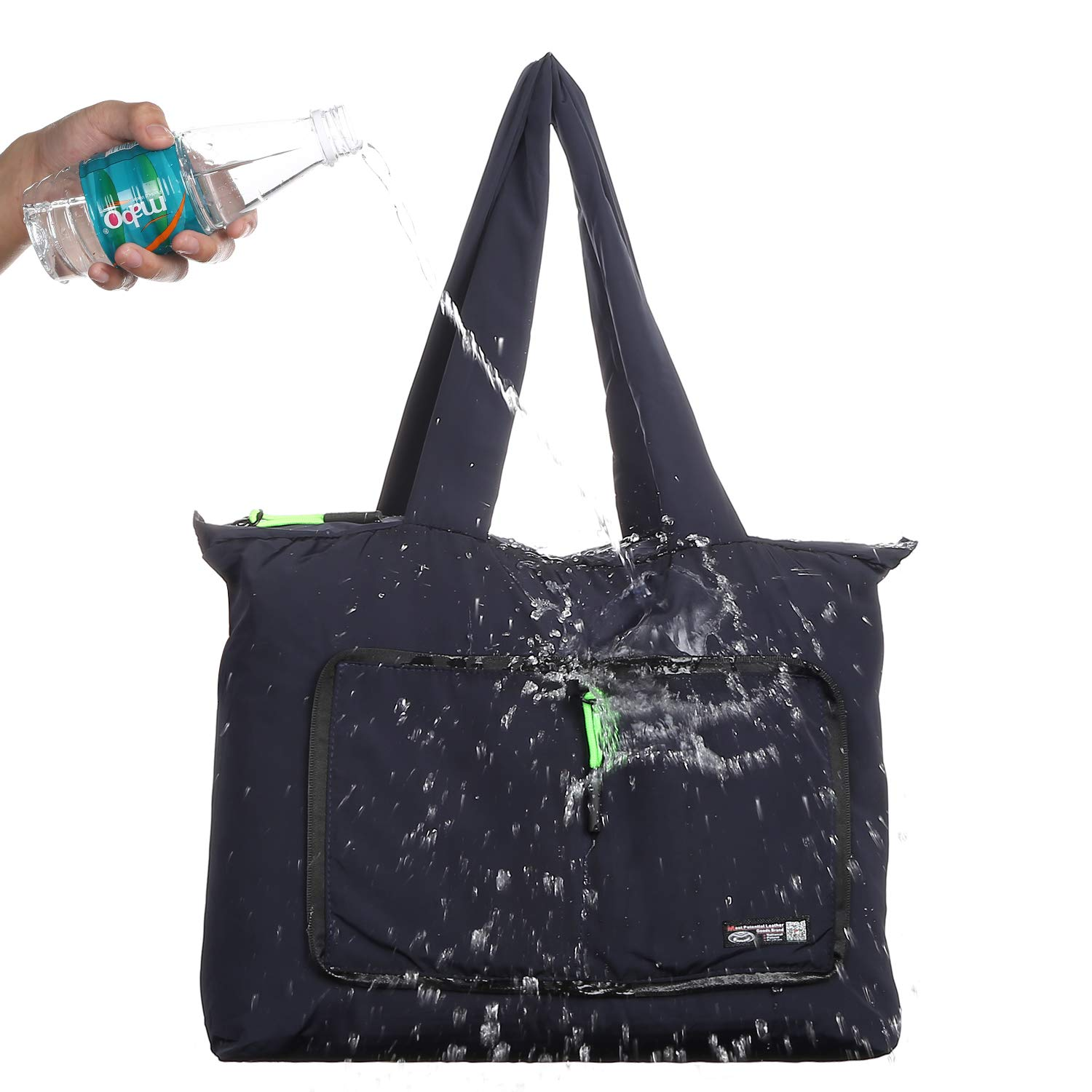Lightweight Foldable Waterproof Shoulder Tote Bag for Shopping Sports Gym Travel