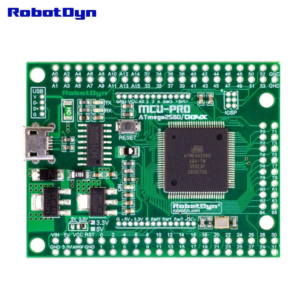 Pitch 0.1, Female pinheaders USB CH340C Ultra Small Size Arduino IDE Compatible Logic Level Switch 3.3V//5V RobotDyn MCU-PRO Embedded Mega 2560 Extra 86 I//O MCU ATmega2560-16AU