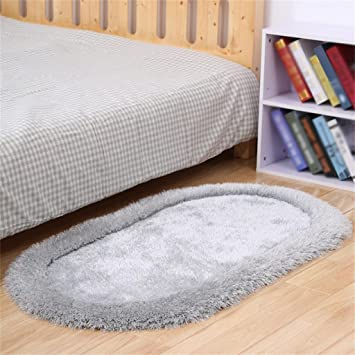 Amazonde LIXIONG Oval Verdickung Teppich Nachttisch Kissen Wohnzimmer Couchtisch