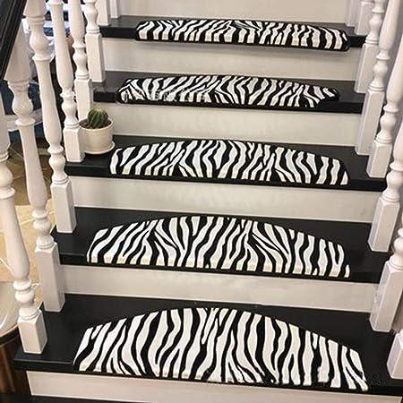 LOUTAB Alfombras para Escalera Ribeteado,Runner Antideslizantes para peldaños decoración del hogar para Escalera Alfombrilla Alfombra para escalones de Madera -Un-24x80Cm(9x31Pulgada): Amazon.es: Hogar