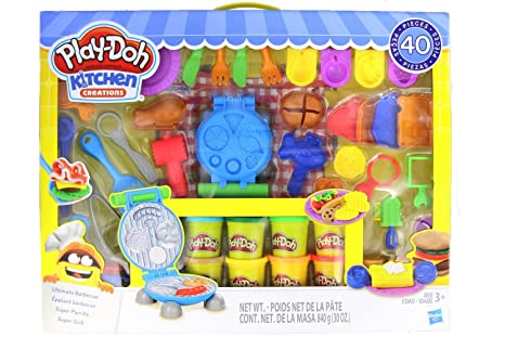 Amazon Com Play Doh Kitchen Creations Ultimate Barbecue Set