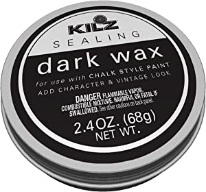 KILZ L644432 Protective Sealing Painted Furniture, 2.4 oz, Dark Wax
