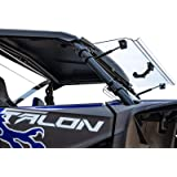 SuperATV Heavy Duty Scratch Resistant Flip 3-IN-1 Windshield for Honda Talon 1000 (2019+) - Hard Coated for Extreme…