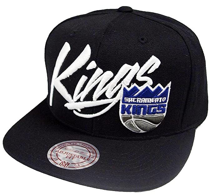 new style f8436 f96a3 Image Unavailable. Image not available for. Colour  Mitchell   Ness  Sacramento Kings Vice Script 358VZ NBA Logo Snapback Cap Basecap