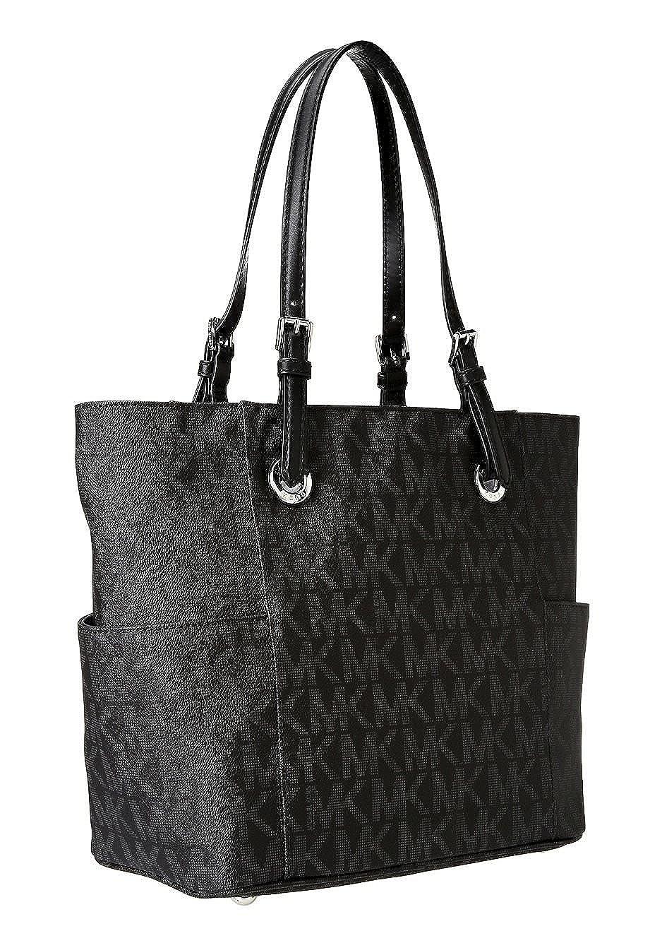 Michael Kors Signature Logo Tote in Black: Handbags: Amazon.com