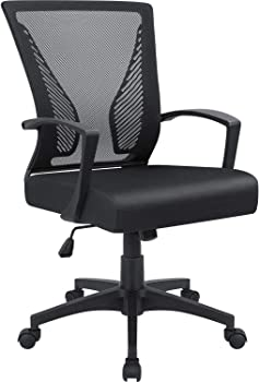 Furmax Office Chair Mid Back Swivel Lumbar Support Desk Chair