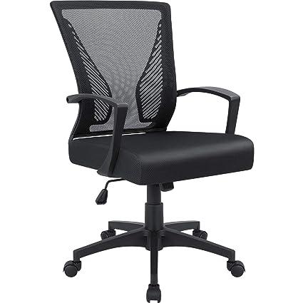 Amazon.com: Furmax Silla de oficina con respaldo medio ...