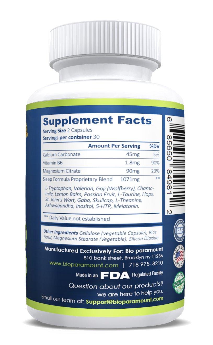 Amazon.com: All Natural Sleep Aid Formula with 5-HTP, Melatonin, and ...