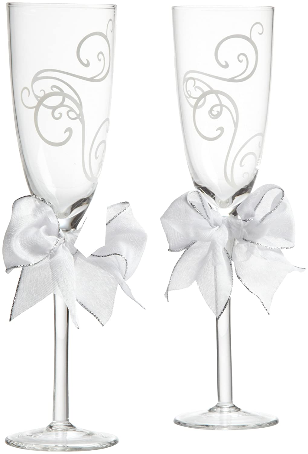 Amazon.com | Wilton Swirl Wedding Day Collection Toasting Glasses ...