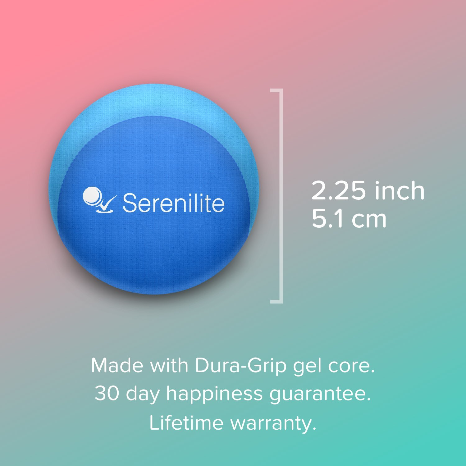 Serenilite Stress Ball & Hand Therapy Gel Squeeze Ball - Great for Hand Exercises and Strengthening - Optimal Stress Relief - Dual Color (Ocean Breeze) by Serenilite (Image #7)