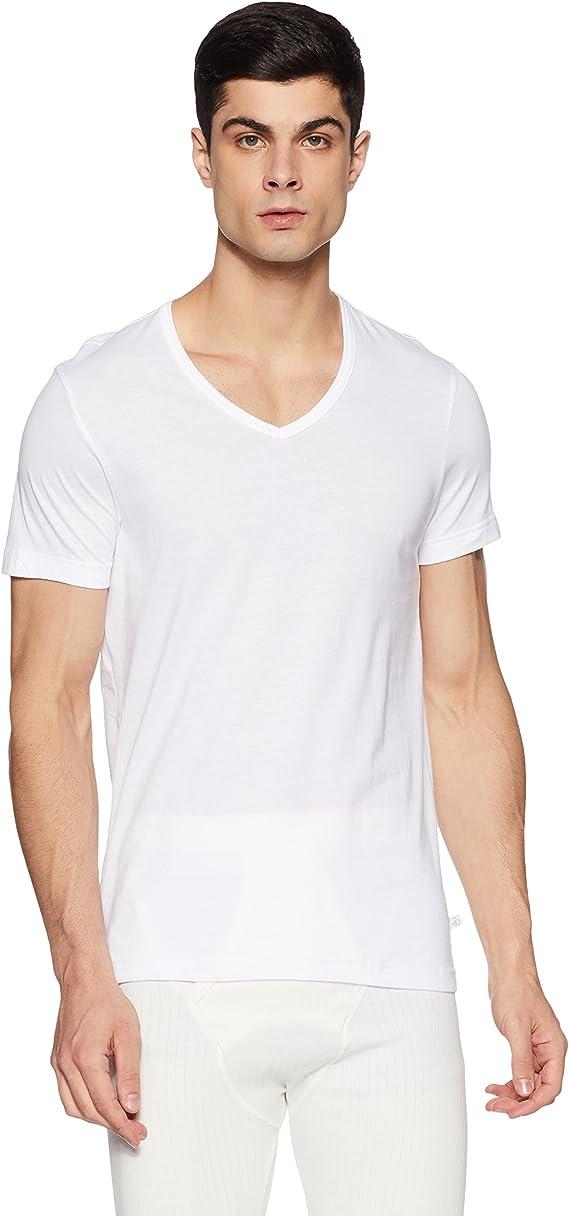 Jockey Men's Cotton Undershirt (Modern Classic) Men's Underwear Vests at amazon