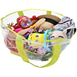WODISON Oversized Summer Beach Mesh Tote Bag Portable Toy Organizer Quick-dry