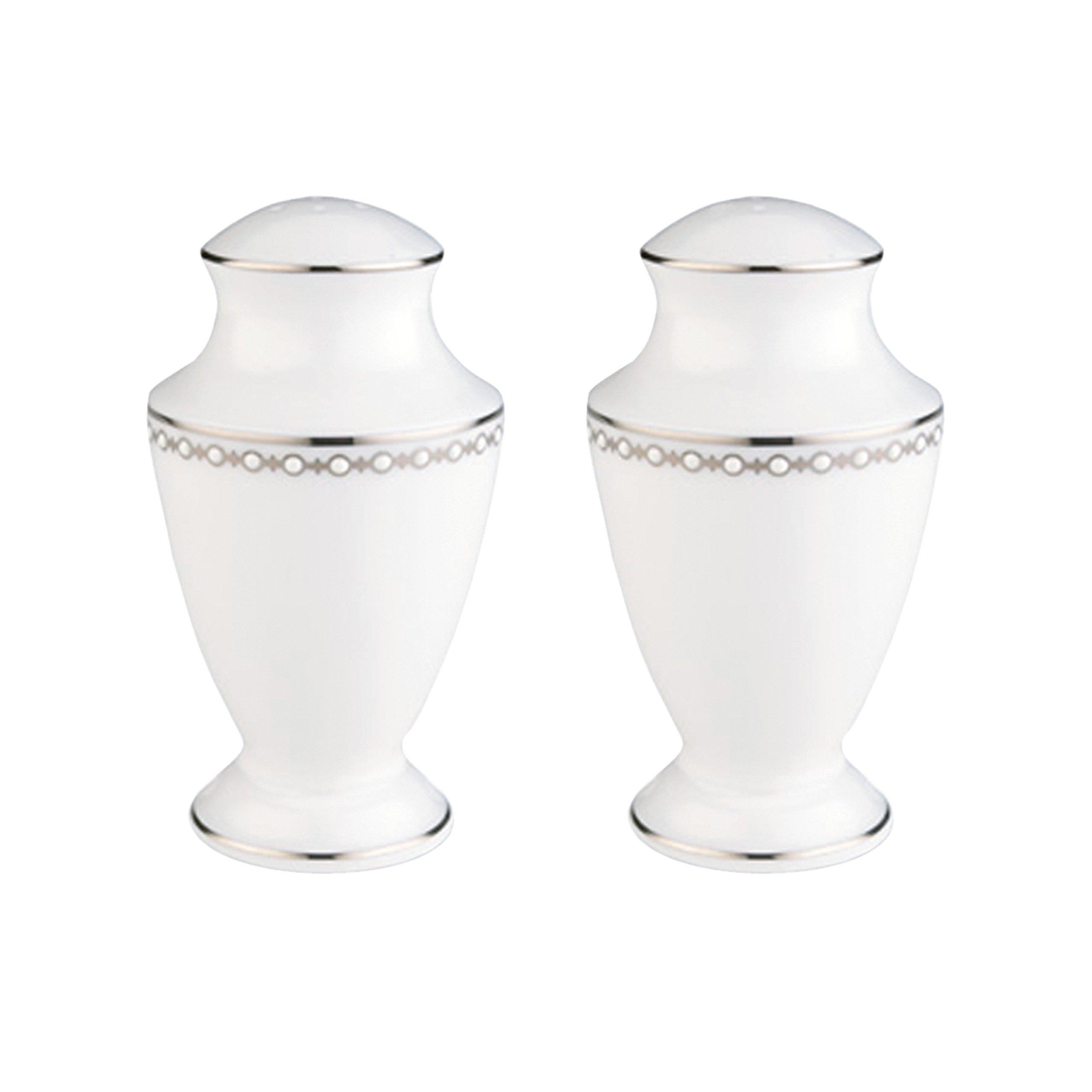 Lenox Pearl Platinum Salt and Pepper Set, White