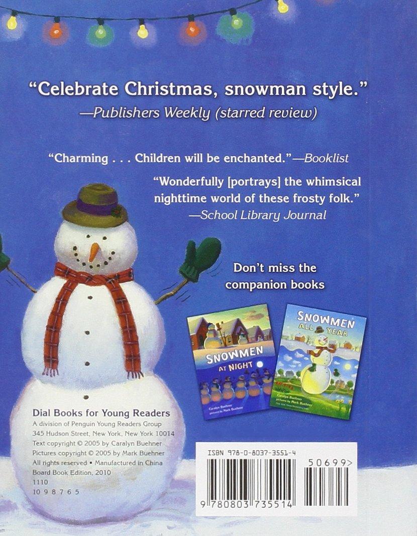 Amazon.com: Snowmen at Christmas (9780803735514): Caralyn Buehner ...