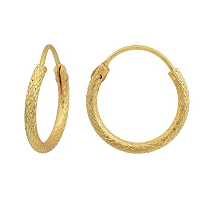 fe8a3bd8ed2d0 Buy DzineTrendz Gold plated brass simple sober light weight daily ...
