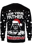 Vanilla Inc I AM Your Father Christmas Ladies & Mens New Season Star Wars Darth Vader Santa Novelty Vintage Retro Xmas Knitted Jumper Sweater Top S-XL
