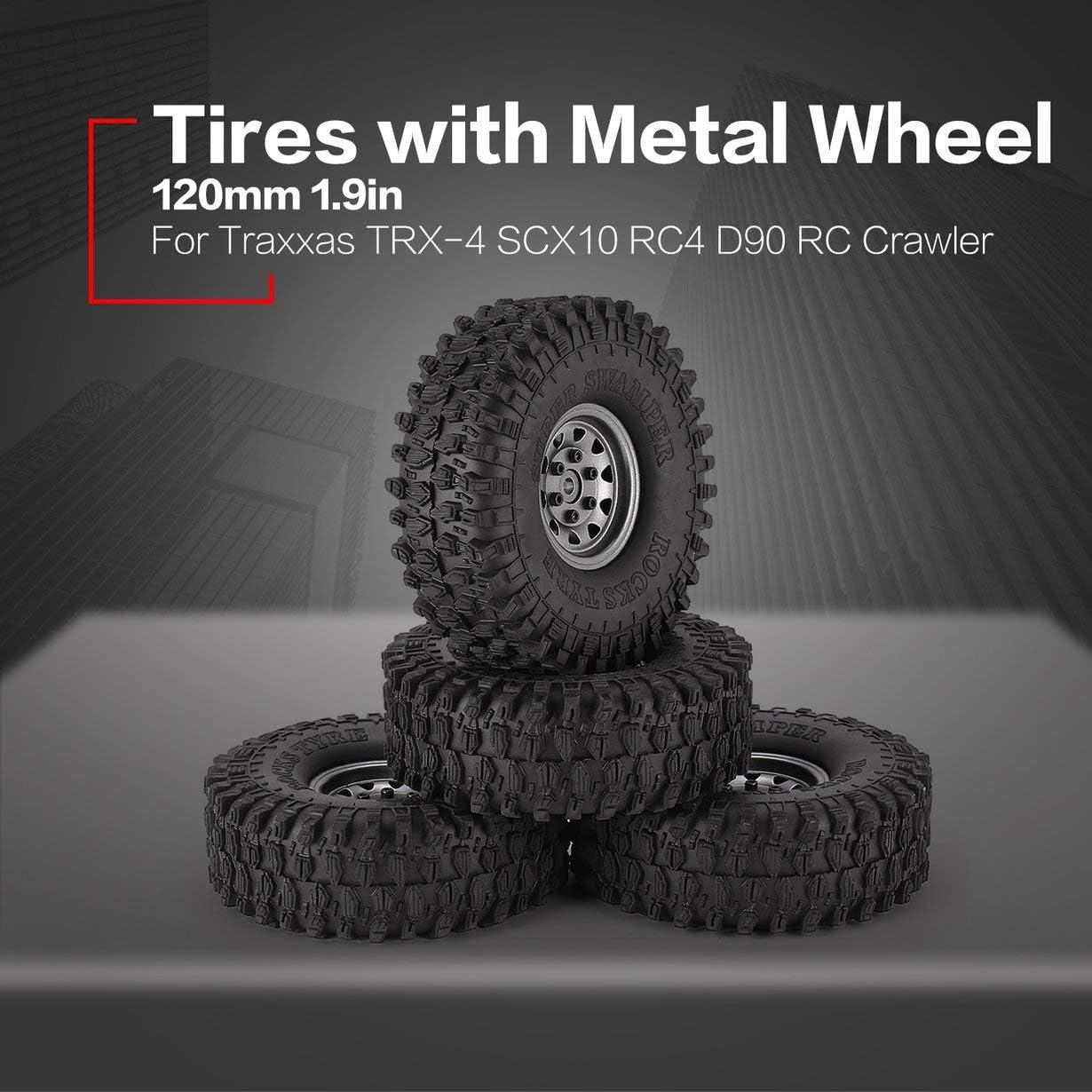 4 Unids 1.9 Pulgadas 120mm Neumáticos de Goma Neumático con ...