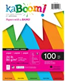 """Kaboom Dynamite Primary Assorted Colored Paper, 8.5"""" x 11"""", 100 Sheets (20530)"""