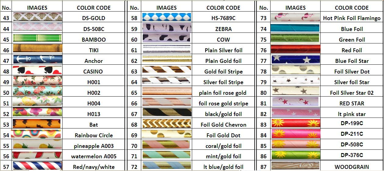 Free DHL Shipping Choose Your Colors 10000 Paper Straws Wholesale,Colored Red Blue Green Black Purple Yellow Pink Grey Gold Silver Paper Drinking Straws Bulk by Kids Party Pro (Image #3)