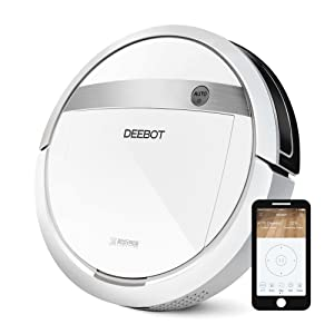 ECOVACS DEEBOT M88 Robotic Vacuum Cleaner for Pet Hair, Carpet and Bare Floors,Wifi Connected, Compatible with Alexa