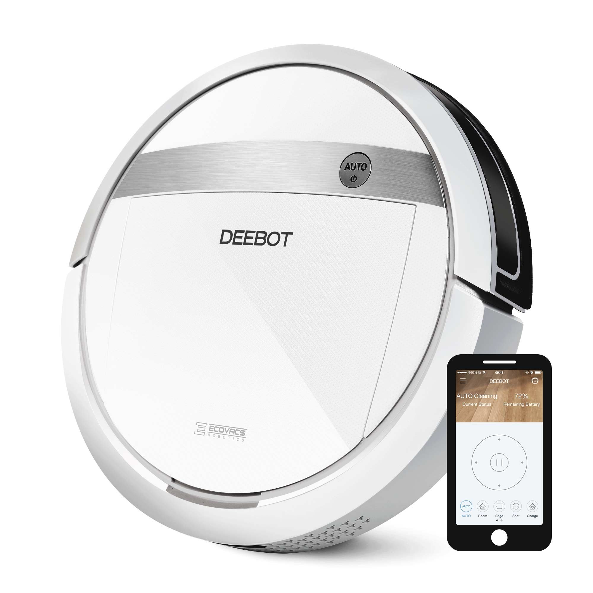 ECOVACS DEEBOT M88 Robotic Vacuum Cleaner for Pet Hair, Carpet and Bare Floors,  Wifi Connected, Compatible with Alexa