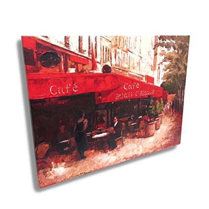 Perfect Amazon.com: French Sidewalk Cafe Canvas Wall Art Print Painting  ZV82