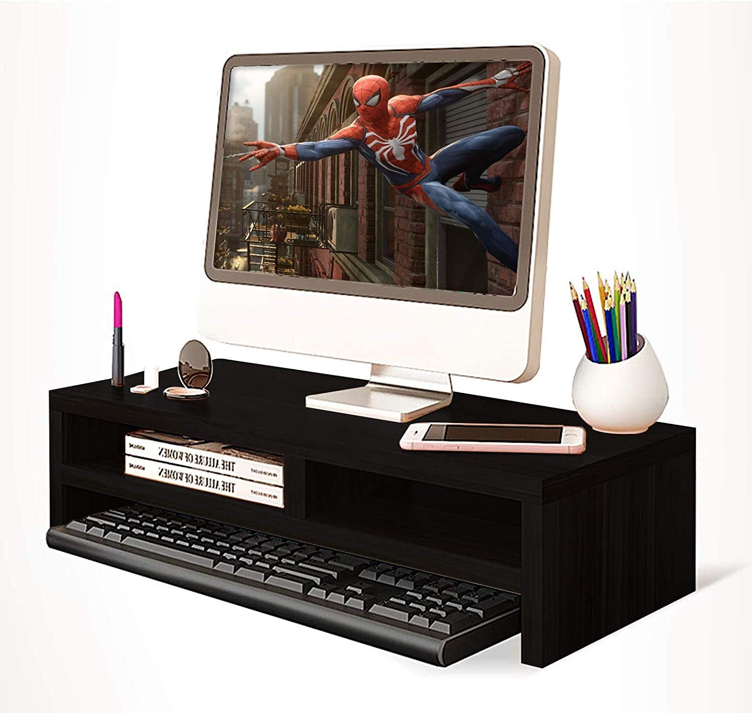 """TY arts & culture - Computer Monitor Stand 21.5"""" inch 2 Tiers Monitor Stand Computer, iMac, Printer, Laptop 