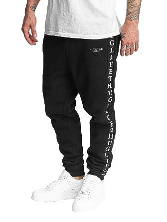 3ebe56a8ab68 Thug Life Men Pants Sweat Pant Wired Black L  Amazon.co.uk  Clothing