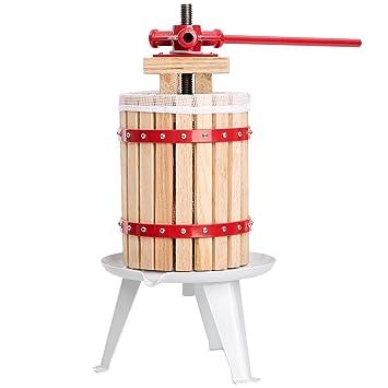 TecTake Prensador de Fruta Extractor Filtro Jugo Exprimidor Manual Prensa Naranja | Incl. paño de prensa - varias tamaños - (6 litros | no.