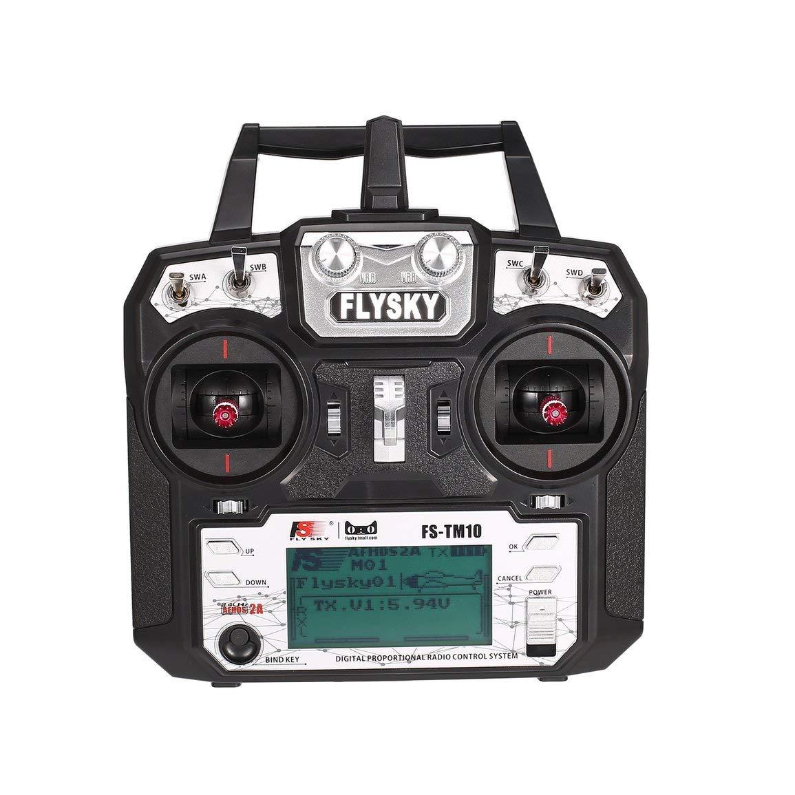 Flysky FS-TM10 FS-i6X FS-IA10B-Empfänger 10CH 2,4-GHz-AFHDS-RC-Sender-Funkmodell-Fernbedienungssystem mit FS-IA10B-Empfänger FS-i6X c538cf