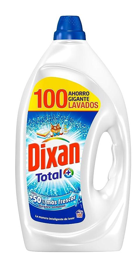 Dixan Detergente Gel Total Formato Gigante - 100 Lavados (5 L)