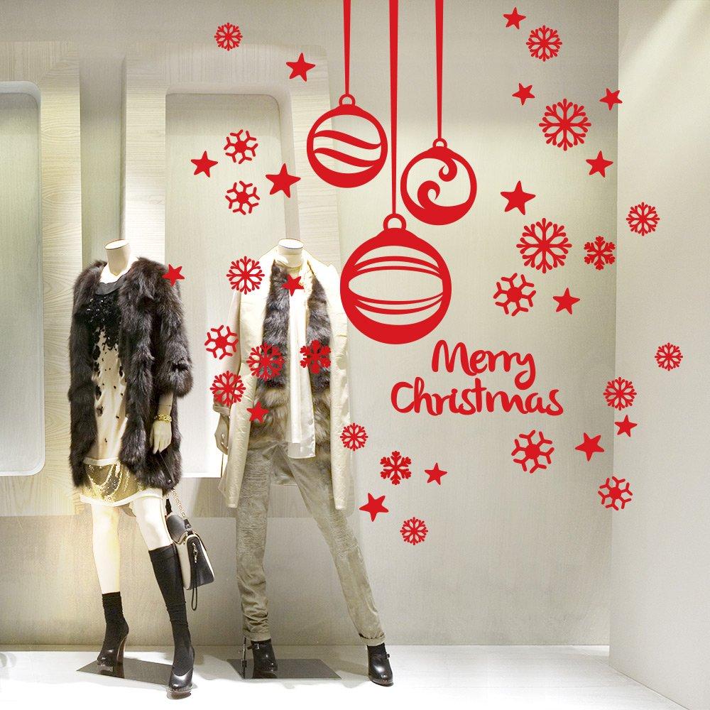 Adesivi natalizi per vetrine negozi zt48 regardsdefemmes - Adesivi natalizi per finestre ...