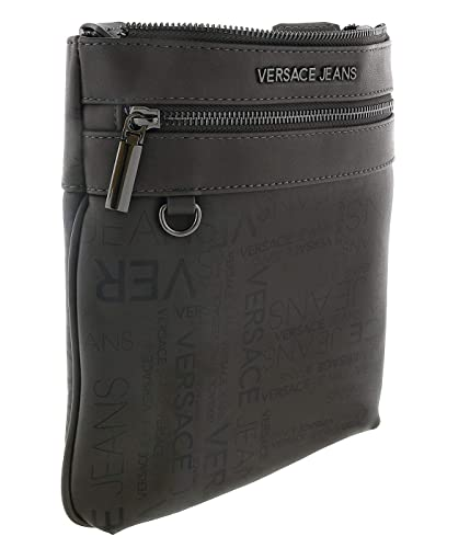e7c9a95a51 Image Unavailable. Image not available for. Color  Versace EE1YSBB25 E829  Dark Grey Messenger Bag ...