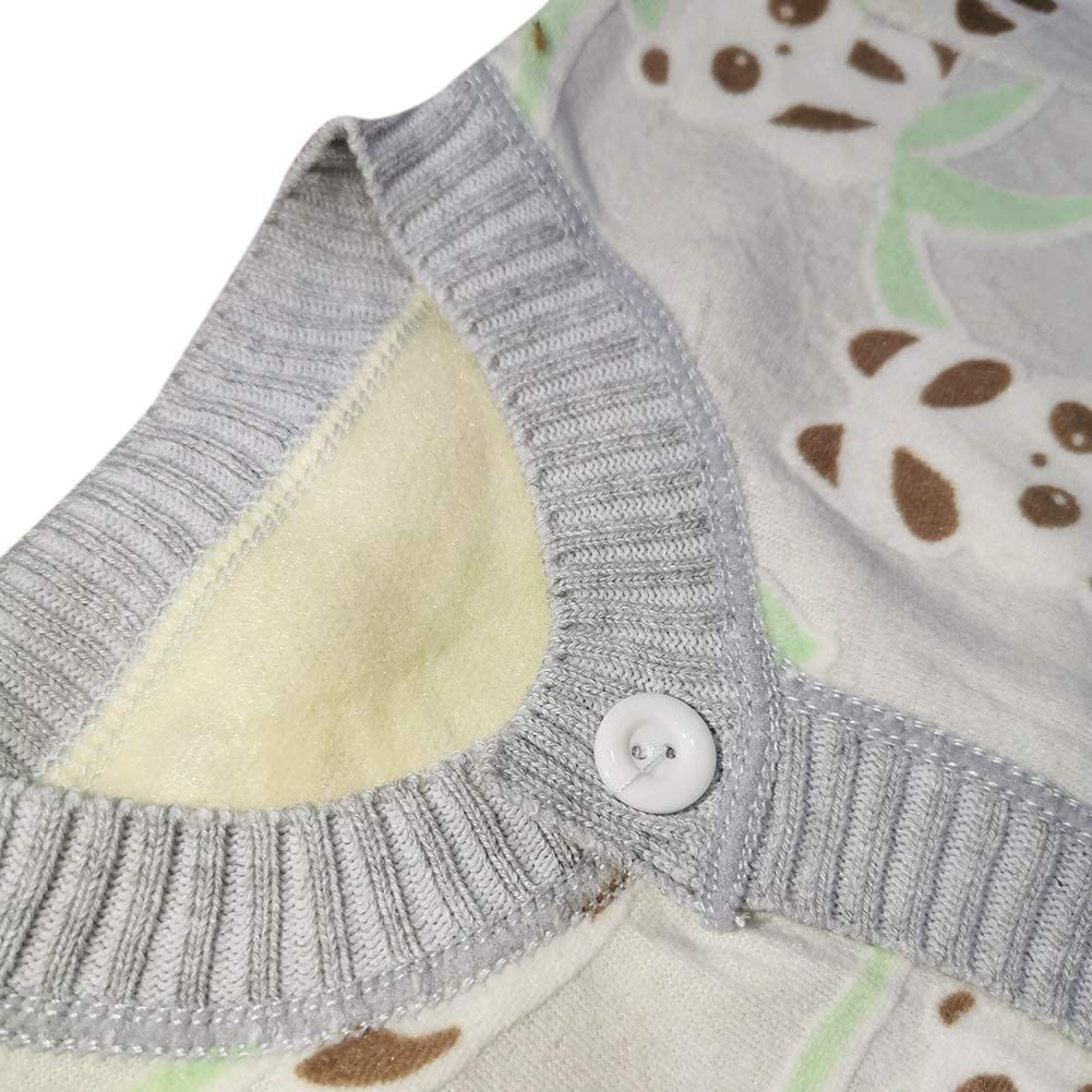 Loveablely Fr/ühling Herbst Baumwolle Baby Kinder Pullover Chinesischer Panda Muster Strickjacke Langarm Jacke 12-36 Monate