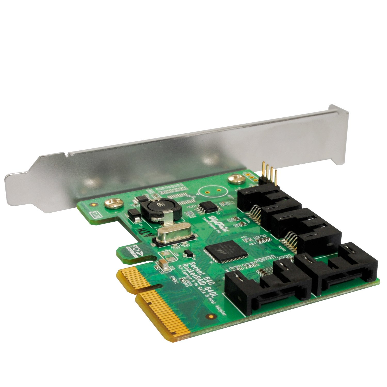 HighPoint Rocket 640L Lite Version 4-Port PCI-Express 2.0 x4 SATA 6Gb/s RAID Controller by High Point