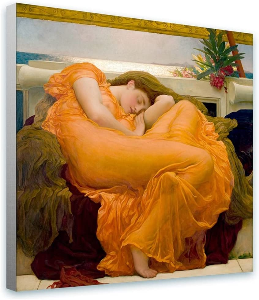 Leighton /'Flaming June/' Canvas Wall Art 18 in x 36 in, Ready to Hang