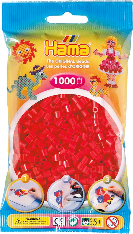 Red Hama Beads 1,000 Bead Refill Bag
