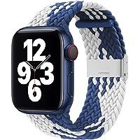 Danwon Loop trançado compatível com pulseiras de relógio Apple 44 mm, 40 mm, 38 mm, 42 mm, à prova de suor e respirável…