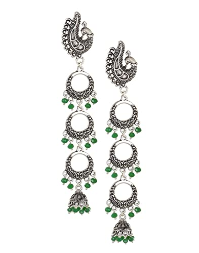 a11311097 Buy VAMA FASHIONS German Silver Black Metal Small Chandbalis with Jhumkas  for Women Online at Low Prices in India   Amazon Jewellery Store - Amazon.in