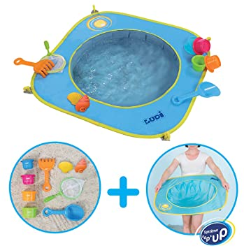 112ec64a856a31 LUDI - Piscine pour bébé à la plage. Dès 10 mois. Inclus 9 jouets de ...