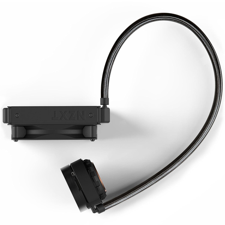 2 incluidos Ventiladores de radiador Aer P 120 mm Dise/ño de espejo giratorio infinito NZXT Kraken X53 240 mm RL-KRX53-01 Refrigerador l/íquido de CPU AIO RGB Alimentado por CAM V4