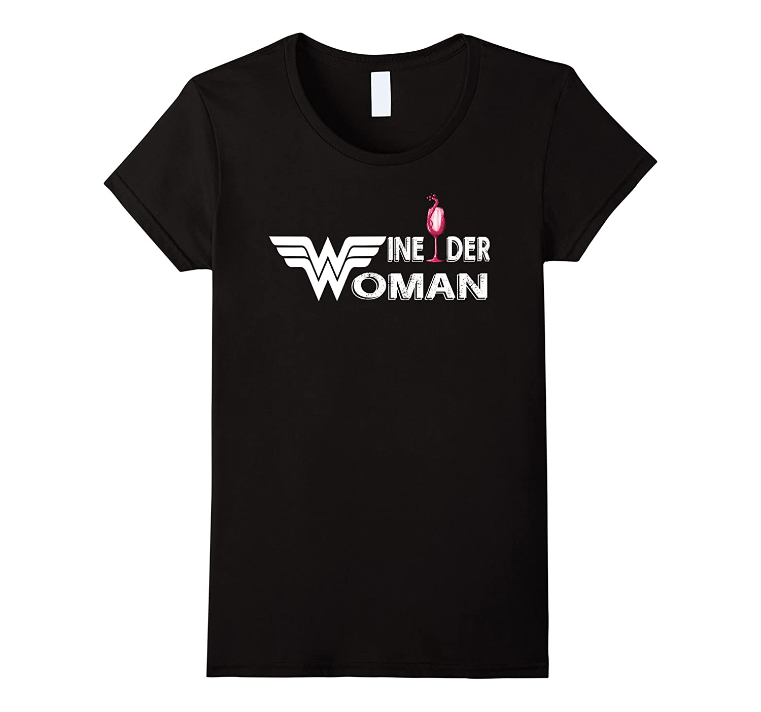 Womens Wine-der Woman T-Shirts Funny Gifts For Women-TH
