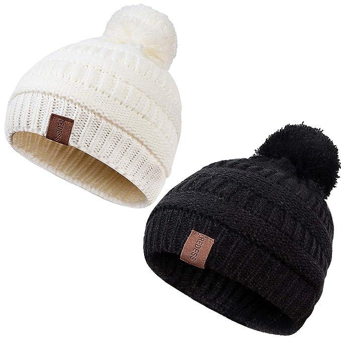 e15c10a15b3 Amazon.com  REDESS Kids Winter Warm Fleece Lined Hat