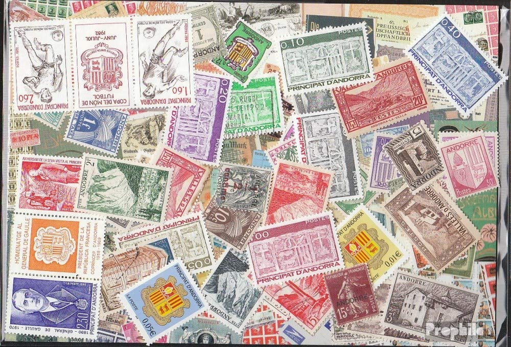 Andorra  French Post 100 different stamps Andorra french (Stamps for collectors)